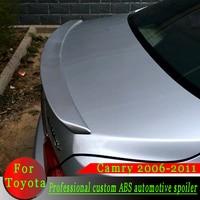 Para Toyota Camry 2006 2011 spoiler ABS material de alta calidad spoiler con imprimación de color o negro o blanco o coche plateado alerón trasero|Alerones y alas|Automóviles y motocicletas -