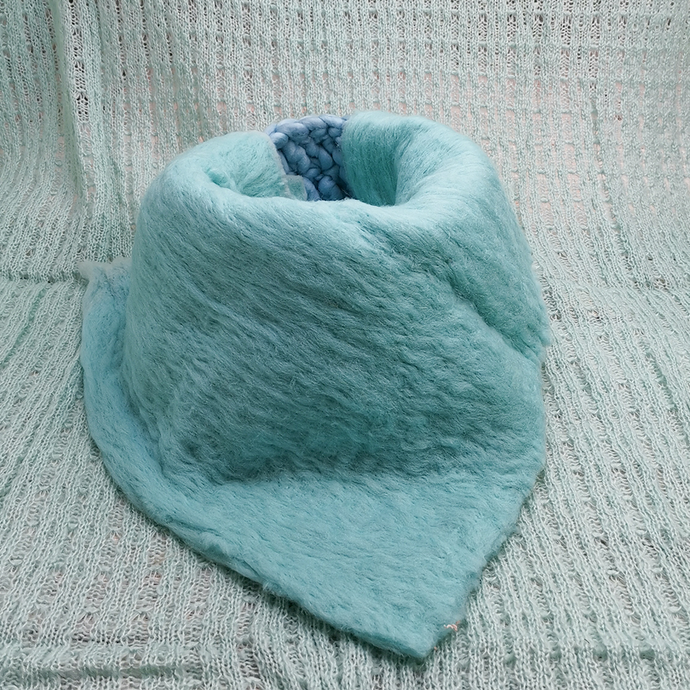 150x100cm Baby Posing Layer Backdrop+Knitted Basket+50x50cm 100% Fluffy Wool Felt Blanket For Newborn Baby Photography Props