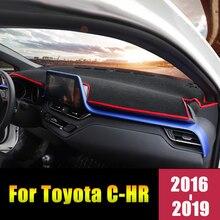 For Toyota C-HR CHR 2016 2017 2018 2019 Car Dashboard Avoid Light Cover Mats Anti-UV Pad Instrument Platform Desk Accessories цена 2017