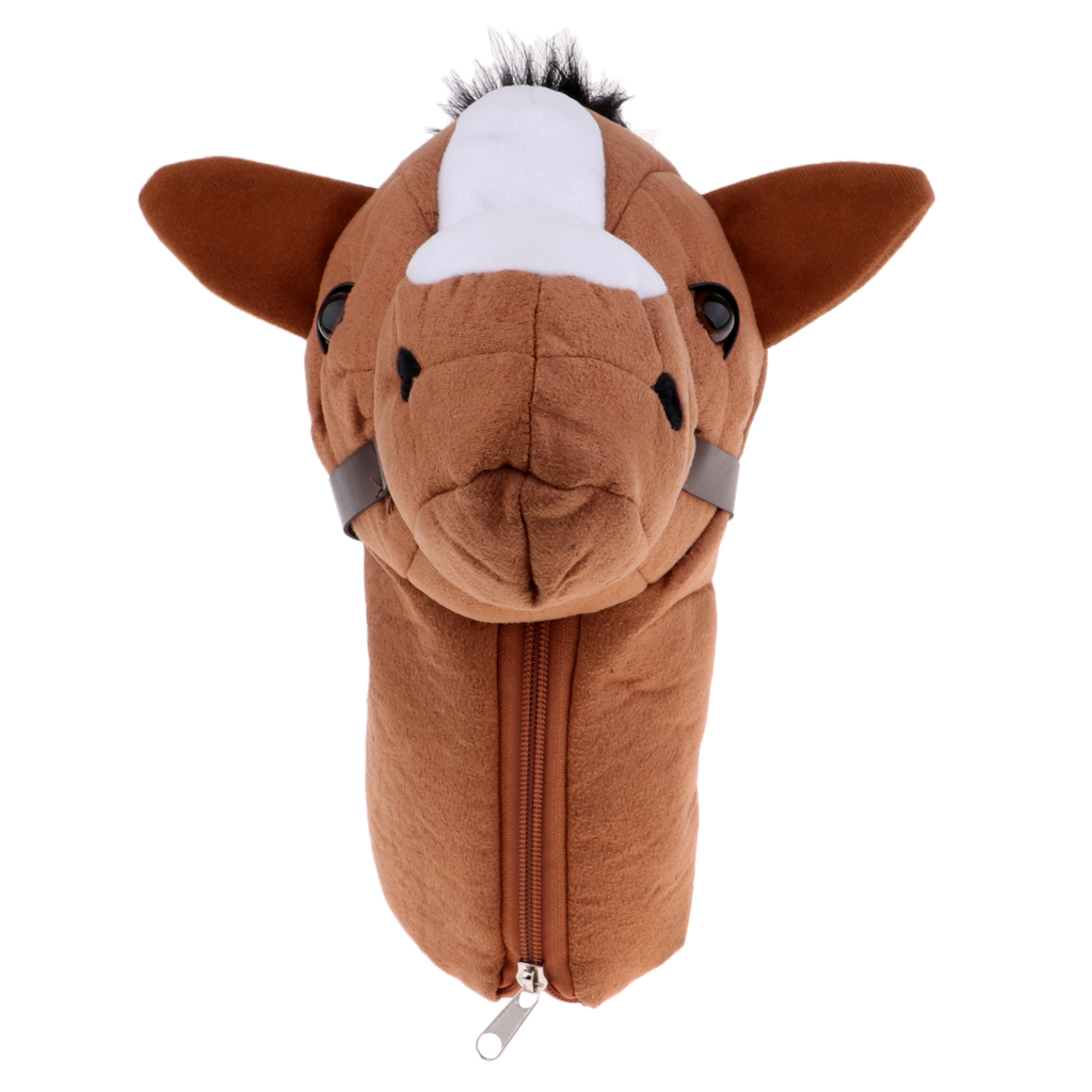 Brown Horse Head Golf Club Head Cover Protective Headcover Gift Accessories