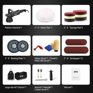 Image 2 - SPTA 5 인치 750W 듀얼 액션 폴리 셔 궤도 15mm 자동 폴리 셔 다 자동차 폴리 셔 홈 DIY 폴리 셔 왁싱 연마 패드 세트