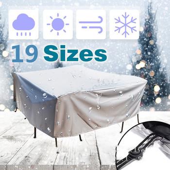 19 rozmiary meble osłona przeciwpyłowa wodoodporna pokrywa patio na świeżym powietrzu ogród deszcz śnieg krzesło pokrowce na sofę stół i krzesła odporny na kurz tanie i dobre opinie Nowoczesne Tkaniny 1769 213*213*74CM