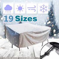 19 tamanhos Tampa Protetora Contra Poeira Tampa À Prova D' Água Do Jardim Do Pátio Ao Ar Livre Mobiliário Cadeira de Chuva Neve capas para Sofá Cadeira Mesa À Prova de Poeira cobrir