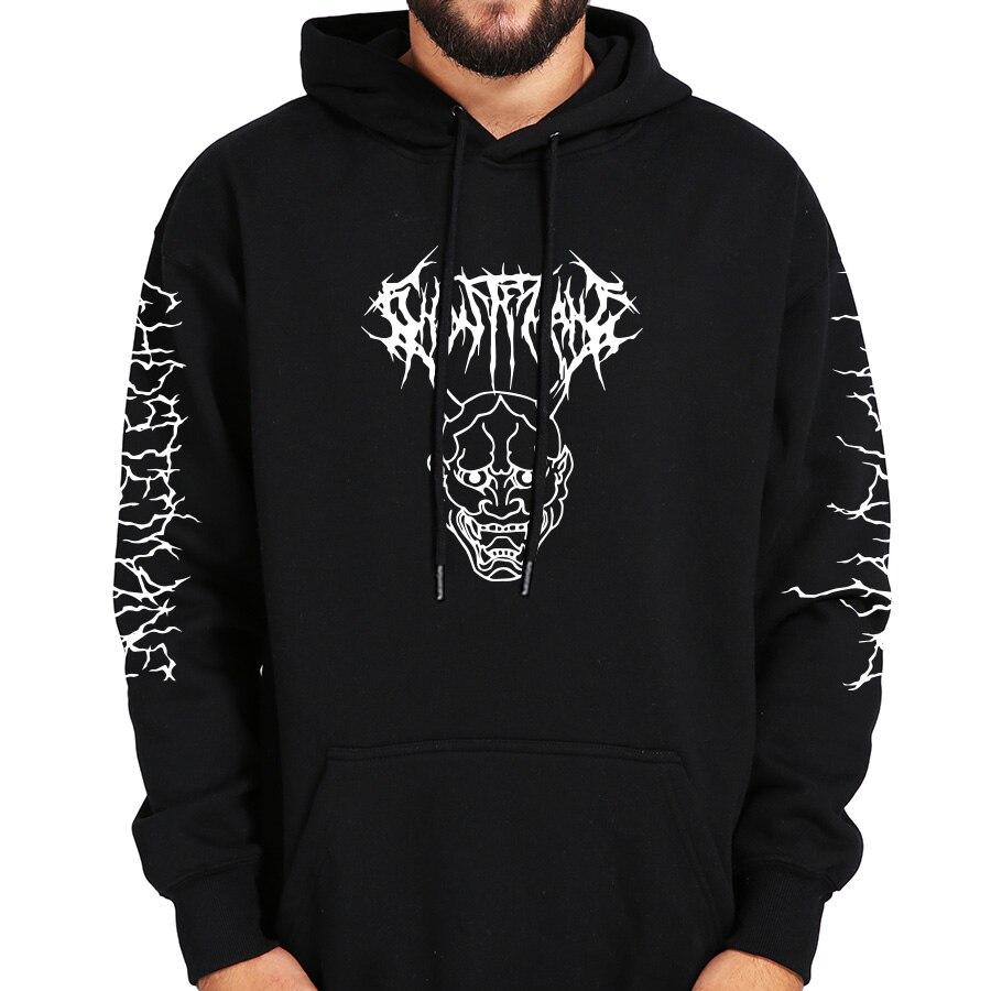 Image 5 - Ghostemane Hoodies Mercury Retrograde Image Printed Sweatshirt Black Long Sleeve Velvet Warm Soft HoodedHoodies & Sweatshirts   -