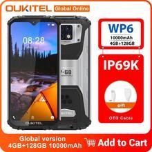 OUKITEL WP6 IP68 IP69K wodoodporny smartfon 10000mAh 4GB + 128GB 6 3 #8222 octa-core Triple-Lens aparaty 16MP szybkie ładowanie telefon komórkowy tanie tanio Nie odpinany CN (pochodzenie) Android Rozpoznawania linii papilarnych Rozpoznawania twarzy Do 200 godzin Adaptacyjne szybkie ładowanie