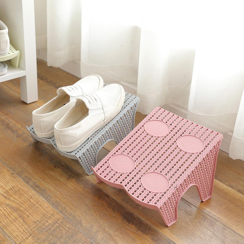 1Pcs Shoe Slots Double Layer Plastic Space Saver Holder Shoes Box Organizer Storage Organizer Storage Stand Holder