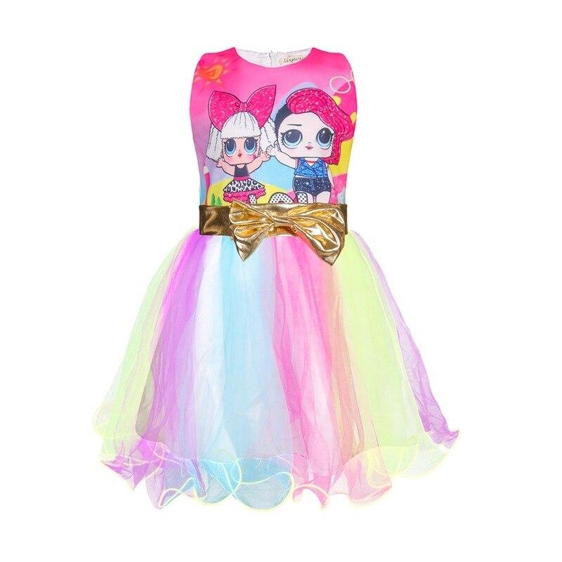 1344 33 De Descuentonuevo Vestido De Fiesta Infantil Para Niñas Vestido Sin Mangas Elsa Lol Pony Navidad Princesa Rapunzel Para Niñas Cumpleaños