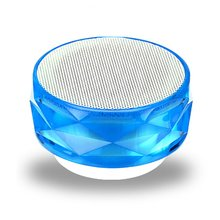 Bluetooth Speaker Mini Wireless Loudspeaker Crystal Diamond LED USB Subwoofer Mp3 Stereo Audio Music Player Colorful Light