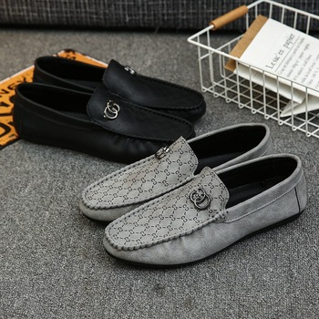 Leather Men Casual Shoes Luxury Brand 2020 Mens Loafers Moccasins Breathable Slip on Driving Shoes Slip-On Soft Flat Shoes New new men s octopus leather penny loafers crocodile slip on driving shoes mens casual shoes moccasins business boat shoes branded