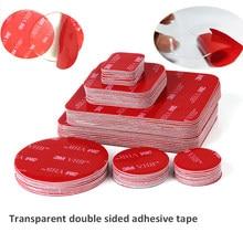 Acrílico transparente fita adesiva dupla-face VHB 3M nenhum traço forte remendo adesivo à prova d' água resistência de alta temperatura