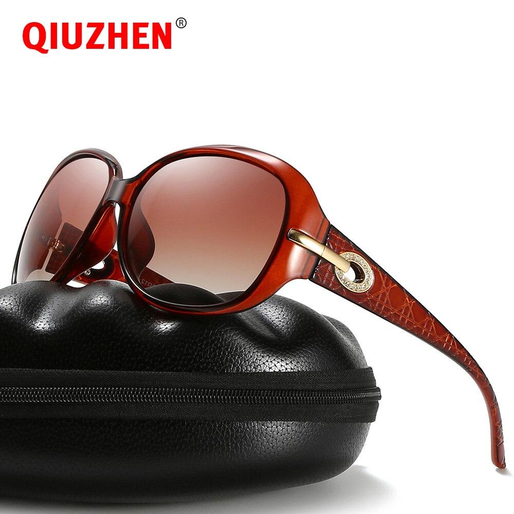 Women's Oversized Vintage Oval Sunglasses Luxury Brand Designer with Rhinestone Retro Shades Gradient Polarized Sun Glasses 2098