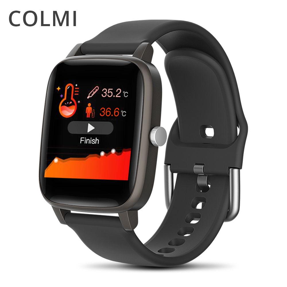 COLMI Thermometer Smart Watch Real-time Monitor Body Temperature Watch Men Fitness Tracker IP67 Waterproof Heart Rate Monitor 1