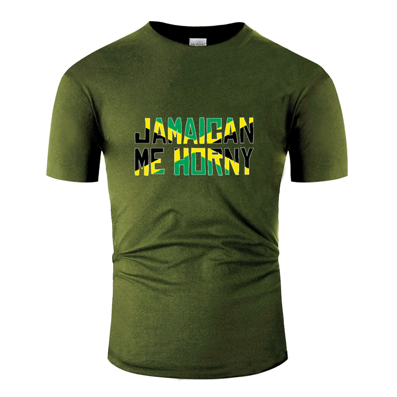 Newest Breathable Jamaican Me Hungry Jamaica Vacation Pride Tshirt 2019 Novelty Clothing Men Tshirt Round Collar Awesome Euro
