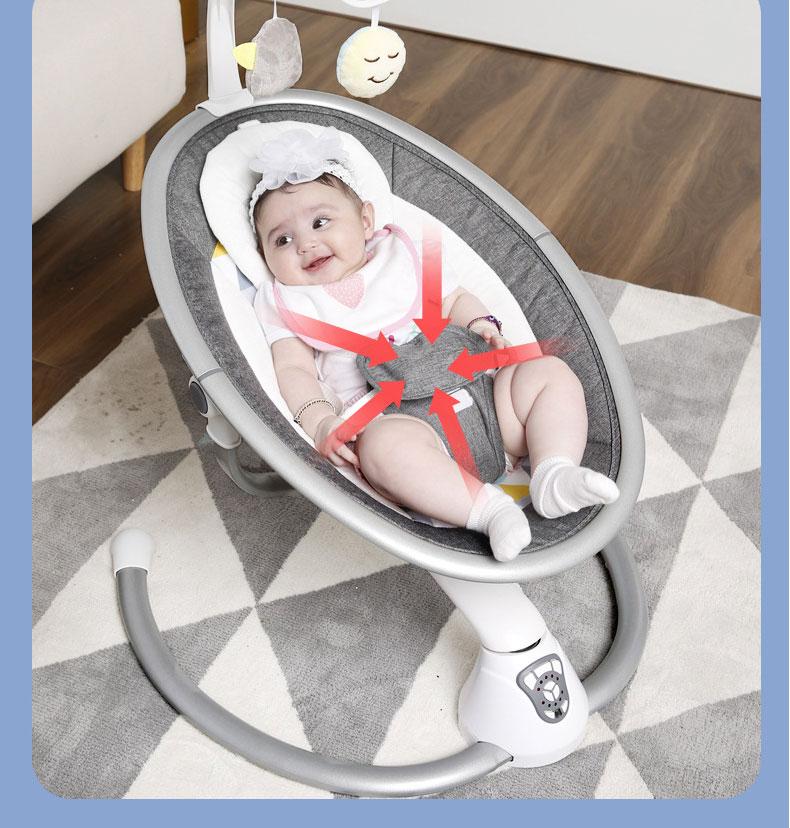 H793b9871222943b6b85dc5b8b58d8915z Electric Baby Rocking Chair 0-3 Baby Safety Cradle Rocking Chair Soothing Baby's Artifact Sleeps Newborn Sleeping Free Shipping