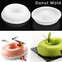 Силиконовая форма для выпечки в форме цветка круглая форма для пончиков мусс форма для десерта форма для выпечки формы инструменты для укра...