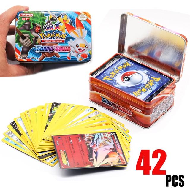 42PCS/BOX SUN&MOON TEAM UP GX MEGA Pokemon Shining Card Game Battle Carte Trading Cards Game Children Pokemons Toys for children 2