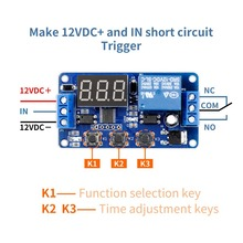 цена на Time delay on-off external trigger switch 5v12v relay cycle control time module countdown