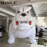 2019 Hot Sale 3M Cool Giant Inflatable Bulldog White Inflatable Dog Animal Mascot for Advertising
