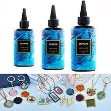 Pegamento de resina UV de secado rápido, 30/100/200g, curado de Gel UV, estado duro, artesanía de la joyería, decoración, accesorios de producción, pegamento