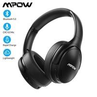Mpow H19 IPO Auriculares inalámbricos Bluetooth ANC Auriculares con cancelación activa de ruido con bolsa de transporte para teléfonos Huawei Iphone Galaxy