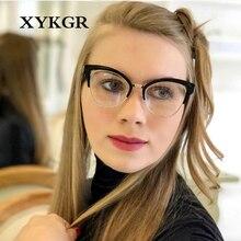 XYKGR trend new half frame ladies goggles fashion optical computer glasses black frames