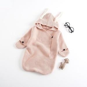 Image 3 - Barboteuse pour bébé, sac de couchage stéréo pour nouveau né, oreilles de lapin, tricoté, vêtements pour bébé, nouvelle collection, automne