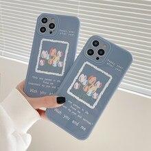 MANGEL AN Für iPhone 12 Pro Max Fällen ölgemälde Tulip Blumen Nette Floral Telefon Fall Für iPhone 11Pro XR XS max X 7 8Plus Abdeckung