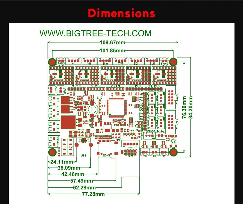 32bit placa de controle peças impressora 3d