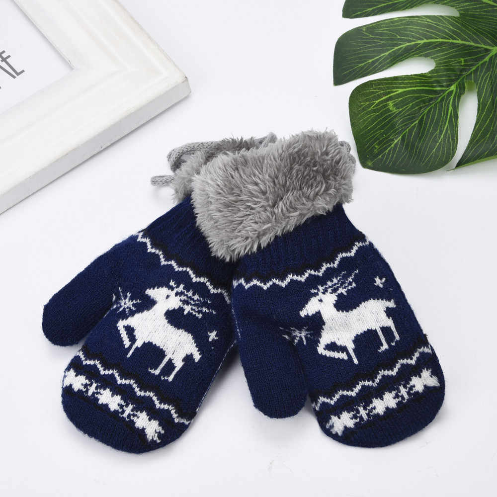 Toddler Kids Baby Gloves Mittens Christmas Newborn Children Warm Baby Girls Boys Winter Gloves Kids For Newborn Teething Mitten