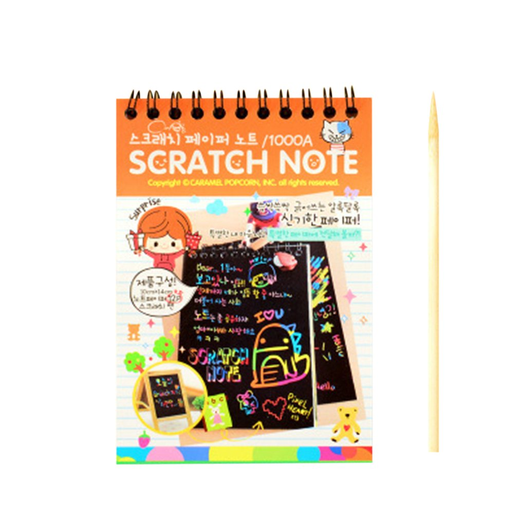 HOT Kids Children Drawing Doodle Pad Toys Colorful Rainbow Paper Scratch Art Graffiti Books Educational Learn Toys For Children