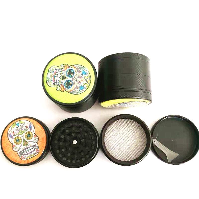 Ghost Head Tobacco Grinder 50mm Metal 4 Layer Grinder Weed Accessories