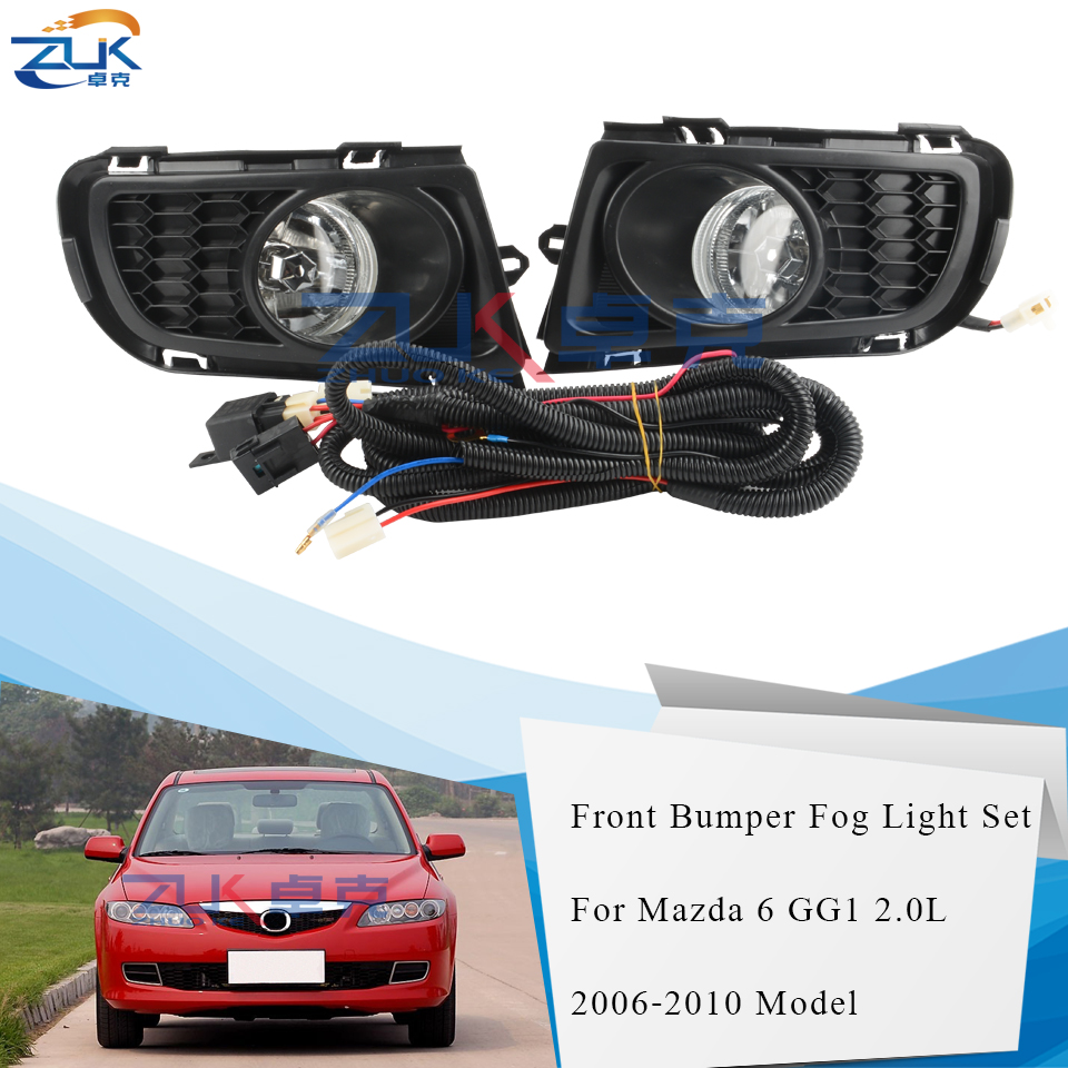 ZUK Fog Lamp Fog <font><b>Light</b></font> Front Bumper Lamp Upgrade Modification Set For <font><b>MAZDA</b></font> <font><b>6</b></font> Atenza GG1 GY1 2002 2003 2004 2005 2006 2007 2008 image