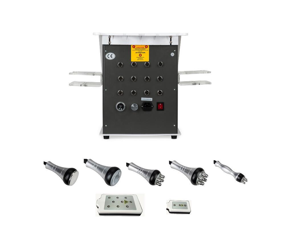 6 in 1 40k Ultrasonic Vacuum Cavitation System RF Radio frequency lipo laser weight loss machine 5