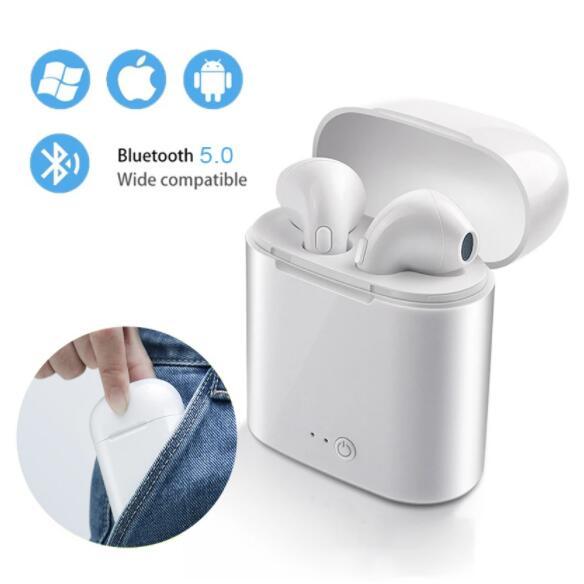 Горячая распродажа дешевые I7s bluetooth-наушников TWS стерео наушник Беспроводной Bluetooth наушники-вкладыши наушники для всех смартфонов в наличии