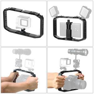 Image 5 - Handheld Camera Cage for DJI OSMO Action/YI/EKEN for Gopro 7 6 Smartphone Stand Holder Video Vlog Grip Stabilizer Rig Bracket