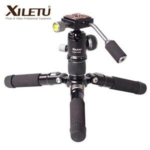 Image 3 - Алюминиевый мини штатив XILETU с шаровой головкой для цифровой зеркальной камеры, настольная подставка, легкий Настольный телефон с треугольным кронштейном