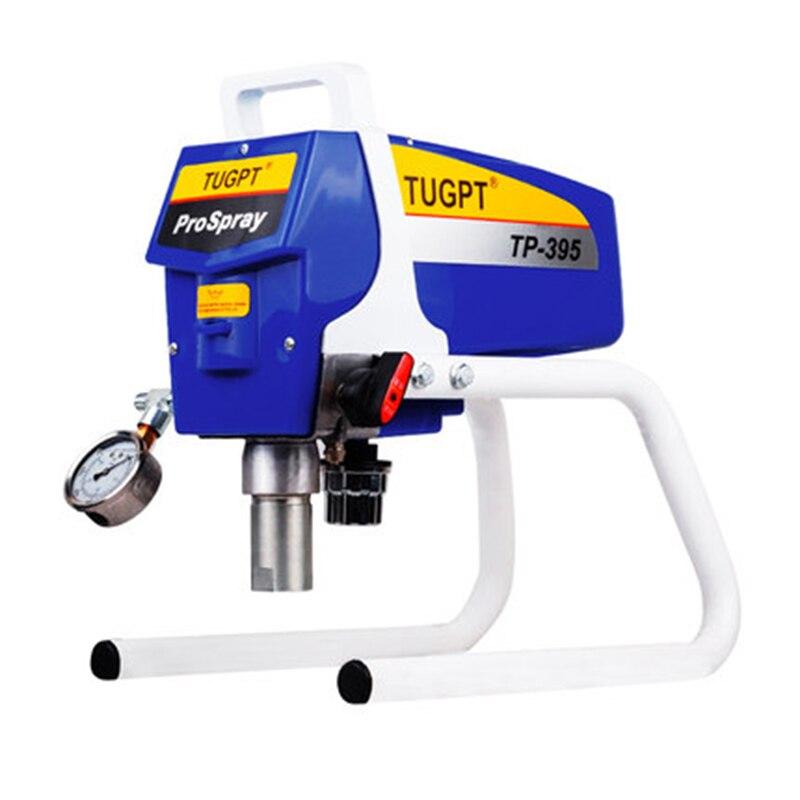 PULVERIZADOR eléctrico de alta presión sin aire pintura de látex pintura impermeable a prueba de fuego estructura de acero pintura pulverizador TP-395