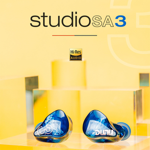Image 2 - Dunu studio sa3 3ba triplo driver in ear monitor fone de ouvido iem com crossover de 2 vias 2pin 0.78mm cabo removível 3d impresso
