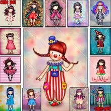 Набор для алмазной живописи 5D «сделай сам», мультяшная девушка, принцесса, цветок, полноразмерная и круглая вышивка, мозаика, вышивка крести...