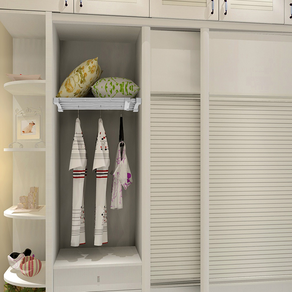 1PC Space Saving Wardrobe Decorative Shelves Cabinet Holders Adjustable Closet Organizer Storage Shelf Wall Mounted Kitchen Rack