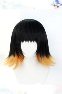 Image 3 - Susamaru demon slayer kimetsu nenhuma peruca yaiba cosplay traje resistente ao calor do cabelo sintético + tampão peruca livre