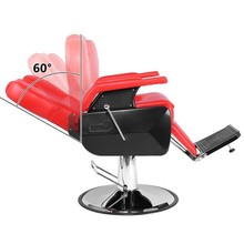 Professional Salon Barber Chair 8702A Red could sustain up to 150KG weight Designed with handrails for salon hair salon