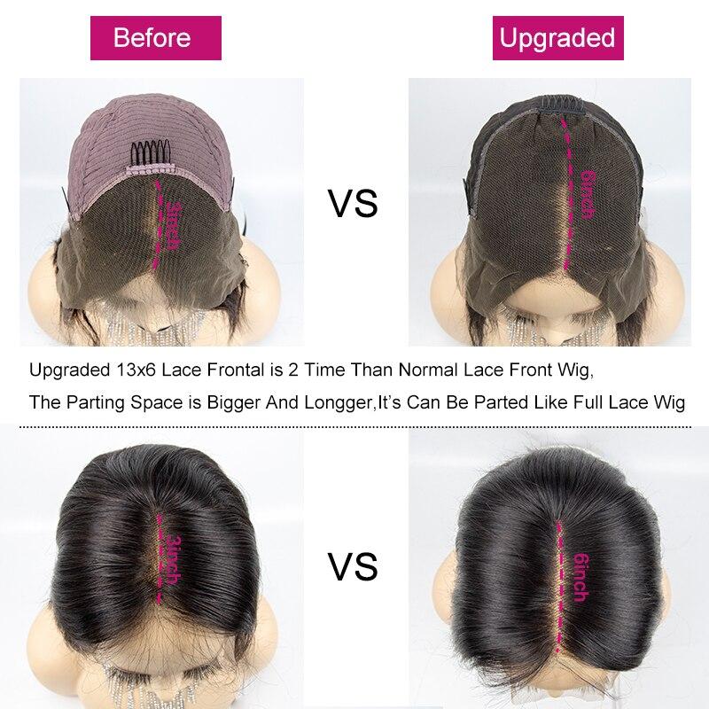 13x6 grande dentelle avant cheveux humains perruques droite Ombre Blonde rouge Bob perruques sans colle préplumé Remy cheveux extrémité complète pour les femmes noir - 6