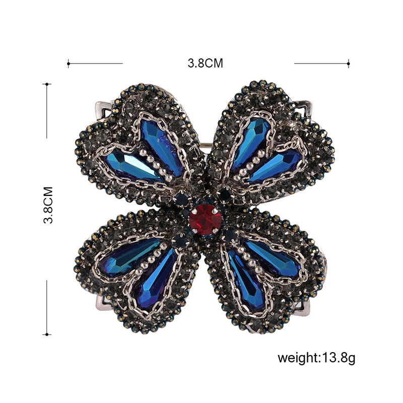 Funmor Vintage Four Leaf Clover Brooches Cubic Zircon Jewelry CLOVER JEWELLERY