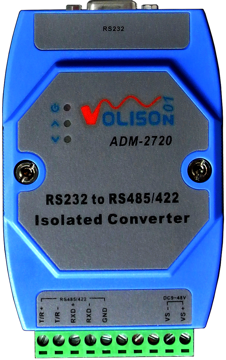 ADM-2720 Isolated Active RS232 To RS485 RS422 Converter 232 To 485 Industrial Grade Lightning Protection Rail