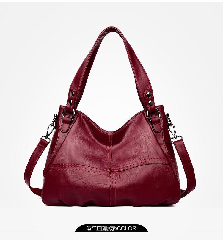 Fashion Genuine Leather Handbag Ladies bags Large Leather Designer Big Tote Bags for Women Luxury Shoulder Bag Women's Handbgs