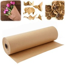 Emballage de colis cadeau en papier Kraft brun, 60 mètres, pour fête d'anniversaire, mariage, artisanat d'art
