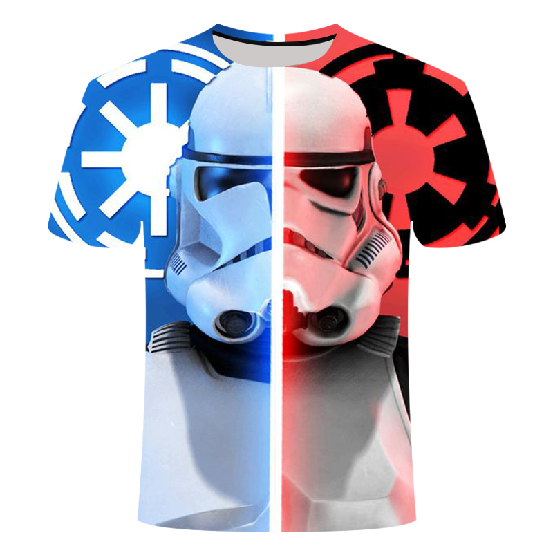 2019 Newest 3D Printed Star Wars T-shirt Men's Women's Short Sleeve Funny Top Tees Fashion Casual Tshirt Asian Size Comfortable