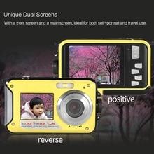 Dual LCD 2.7 Inch HD 24MP 16X Digital Zoom 1080P 30FPS Waterproof Anti-Shake Selfie Digital Camera