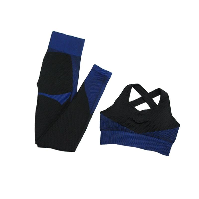 2pcsBra Black Blue